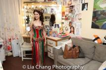 Ali Ewoldt in her dressing room at The Majestic in New York. Photo by Lia Chang