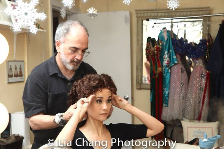 Leone Gagliardi and Ali Ewoldt in her dressing room at The Majestic in New York. Photo by Lia Chang