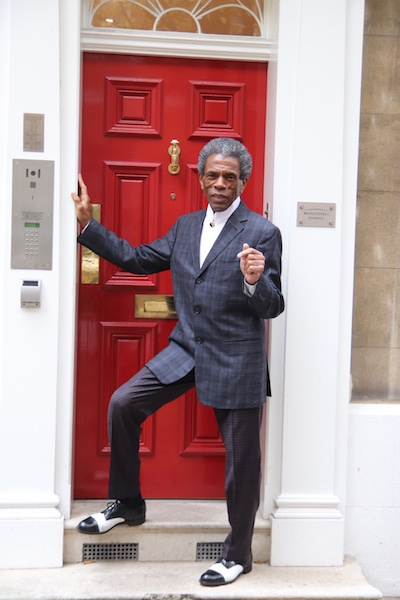 André De Shields on his way to high tea at The Ritz London. Photo by Lia Chang