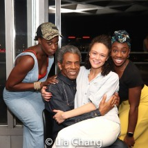Gloria Onitiri, André De Shields, Amber Gray, Carly Mercedes Dyer. Photo by Lia Chang