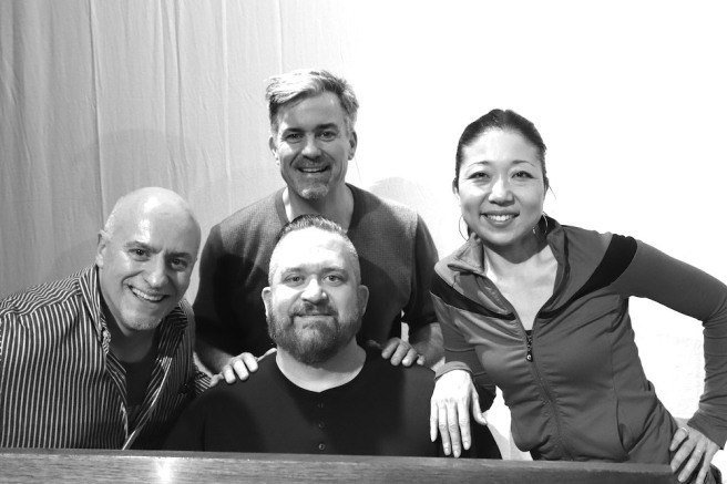 Richard Vida (Director), W. Brent Sawyer (Musical Director), Steven Fisher (Writer and Musical Supervisor and Lainie Sakakura Choreographer. Photo by Lia Chang