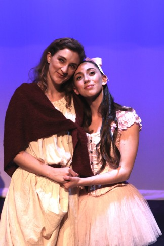 Heather Cadarette as Mama and Laura Sky Herman as Marie. Photo by Lia Chang