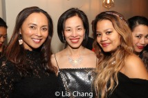 Ernabel Demillo, Lia Chang and Cyn Casasola. Photo by Garth Kravits