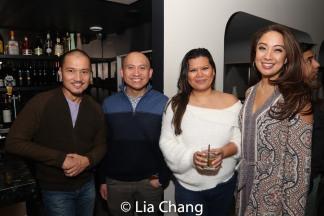 Jon Jon Briones, Paolo Tirol, Liz Casasola and Jaygee Macapugay. Photo by Lia Chang