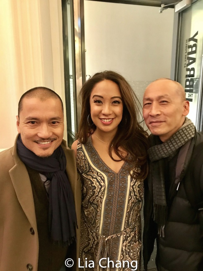 Jon Jon Briones with WILD GOOSE DREAMS cast members Jaygee Macapugay and Frances Jue. Photo by Lia Chang