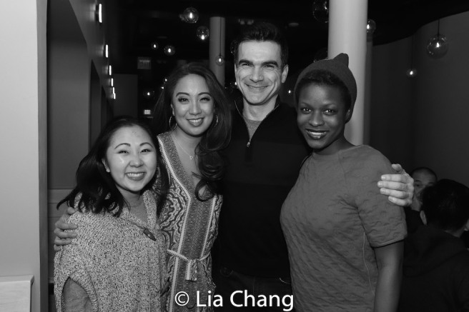 WILD GOOSE DREAMS cast members Kendyl Ito, Jaygee Macapugay, Dan Domingues and Lulu Fall. Photo by Lia Chang