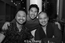 Billy Bustamante, Devon Ilaw and Jon Jon Briones. Photo by Lia Chang