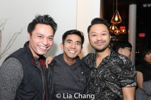 Romney Piamonte, Aaron J. Albano and Billy Bustamante. Photo by Lia Chang