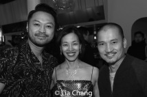 Billy Bustamante, Lia Chang and Jon Jon Briones. Photo by Garth Kravits