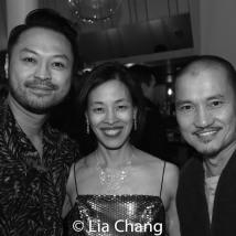 Billy Bustamante, Lia Chang and Jon Jon Briones. Photo by Garth Kravits