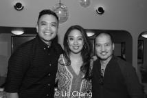 Jose Llana, Jaygee Macapugay and Jon Jon Briones. Photo by Lia Chang