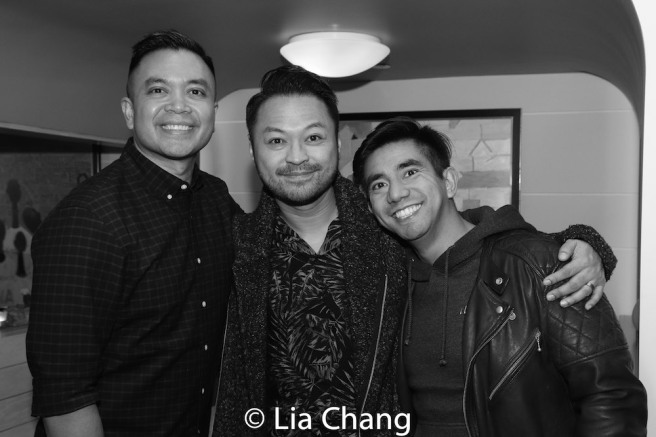 Jose Llana, Billy Bustamante and Aaron J. Albano. Photo by Lia Chang