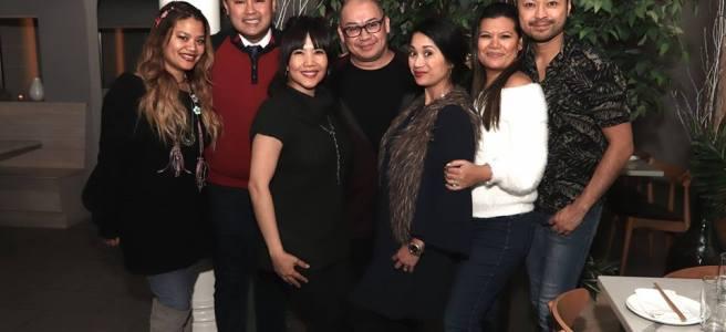 Cyn Casasola, Don Mike Mendoza, Emy Coligado, Brian Jose, Audri Dalio, Liz Casasola and Billy Bustamante, not pictured: Bennyroyce Royon. Photo by Lia Chang
