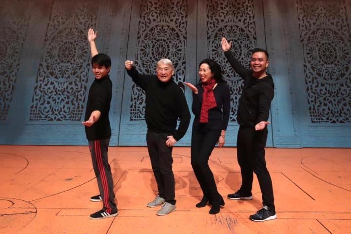 Telly Leung, Alvin Ing, Jodi Long and Jose Llana. Photo by Lia Chang