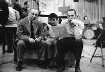 Richard Rodgers, Pat Suzuki, and Goddard Lieberson Photo Credit: Don Hunstein