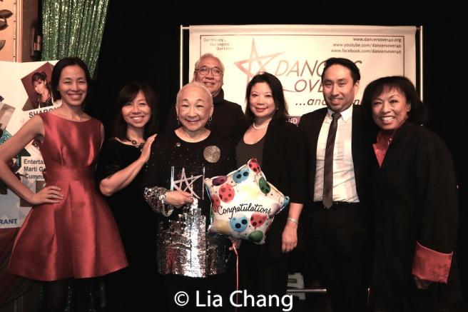 Lia Chang, Amy Chin, Lori Tan Chinn, Richard Young, Mel Young, Michael Sean Lee and Baayork Lee. Photo by Lia Chang