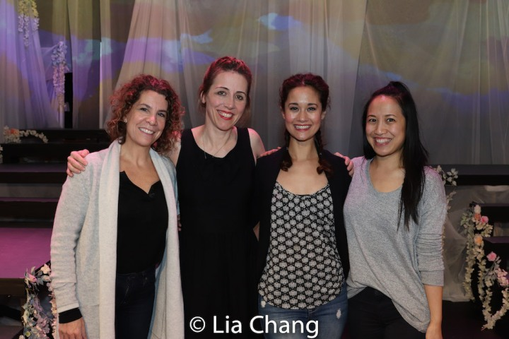 Choreographer Lorna Ventura, Royal Family Productions' Artistic Director Chris Henry, Ali Ewoldt and Associate Director Jessica Wu. Photo by Lia Chang