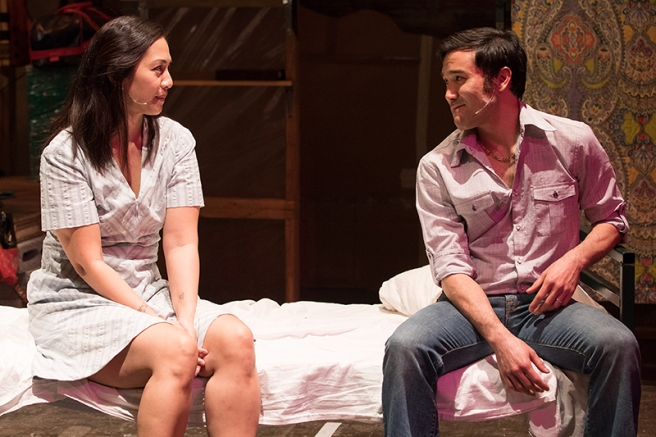 Regina Aquino and Marc Delacruz in Vietgone. Photo: Teresa Wood