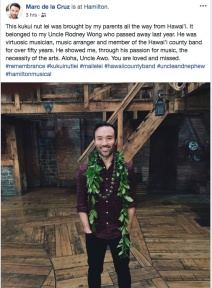 Marc delaCruz at Richard Rodgers Theatre in New York on January 20, 2019.