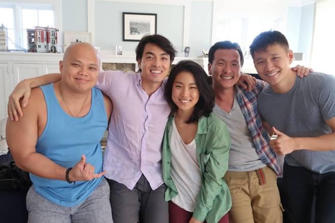 THE BEACH HOUSE cast members Viet Vo, Daniel Klimek, Jean Tree, Brian Kim and Daniel J. Edwards.