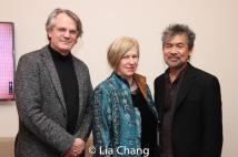 Bartlett Sher, Rachel Cooper and David Henry Hwang. Photo by Lia Chang