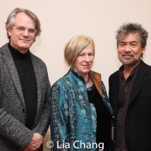 Bartlett Sher, Rachel Cooper and David Henry Hwang. Photo by Lia Chang