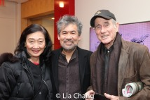 Tina Chen, David Henry Hwang and Jim Dale. Photo by Lia Chang