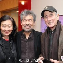 Tina Chen, David Henry Hwang and Jim Dale. Photo by Lia Chang