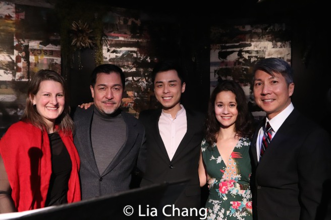 Kristen Lee Rosenfeld, Alan Ariano, Jonny Lee, Jr., Ali Ewoldt and Jason Ma. Photo by Lia Chang