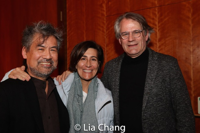David Henry Hwang, Jeanine Tesori and Bartlett Sher. Photo by Lia Chang