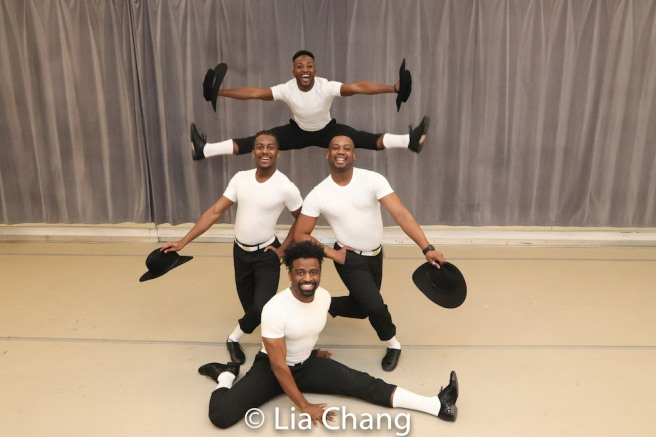 C.K. Edwards, Lamont Brown, Tomm Scrivens and Wesley J. Barnes. Photo by Lia Chang