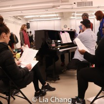 The SOPHISTICATED LADIES company in rehearsal. Photo by Lia Chang