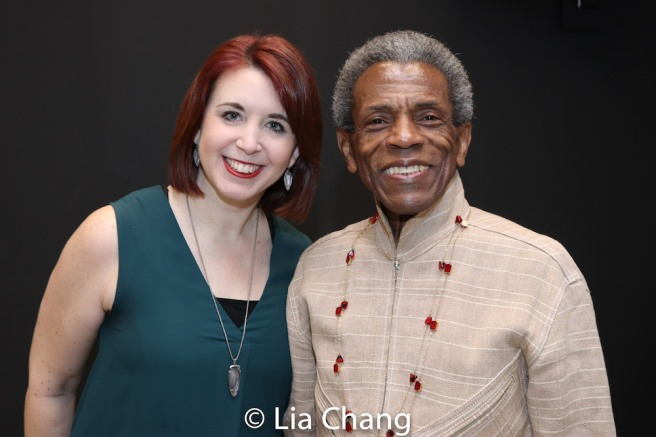 Kimberly Schafer and André De Shields. Photo by Lia Chang