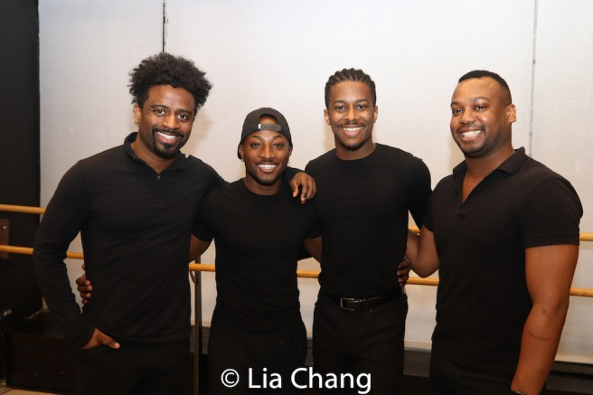 C.K. Edwards, Wesley J. Barnes, Lamont Brown and Tommy Scrivens. Photo by Lia Chang