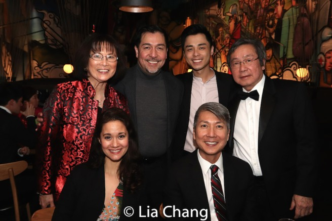 Back Row: Lucy Kan, Alan Ariano, Jonny Lee, Jr., Victor Kan. Front Row: Ali Ewoldt and Jason Ma. Photo by Lia Chang