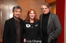 David Henry Hwang, Jacqueline Davis, Executive Director of NY Performing Arts Library and Bartlett Sher. Photo by Lia Chang