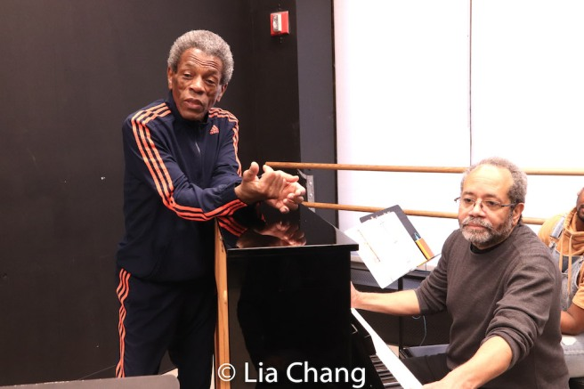 Director André De Shields and Musical Director Nat Adderley, Jr. Photo by Lia Chang