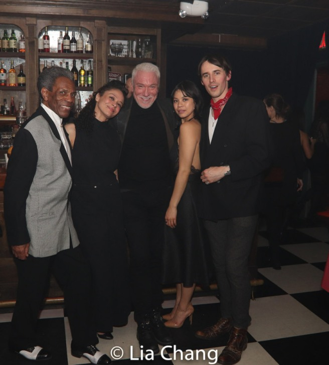 HADESTOWN stars André De Shields, Amber Gray, Patrick Page, Eva Noblezada and Reeve Carney. Photo by Lia Chang