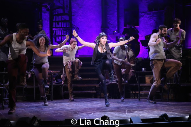 Eva Noblezada and the company of HADESTOWN. Photo by Lia Chang