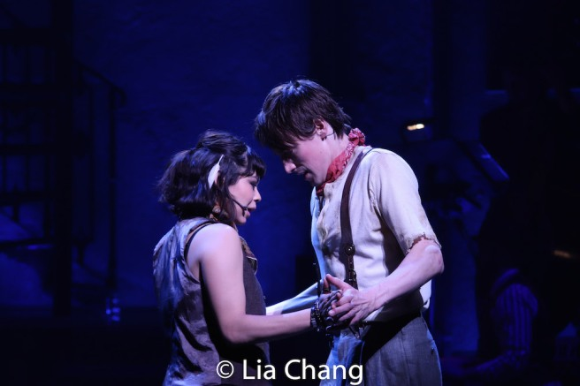 Eva Noblezada as Eurydice and Reeve Carney as Orpheus. Photo by Lia Chang