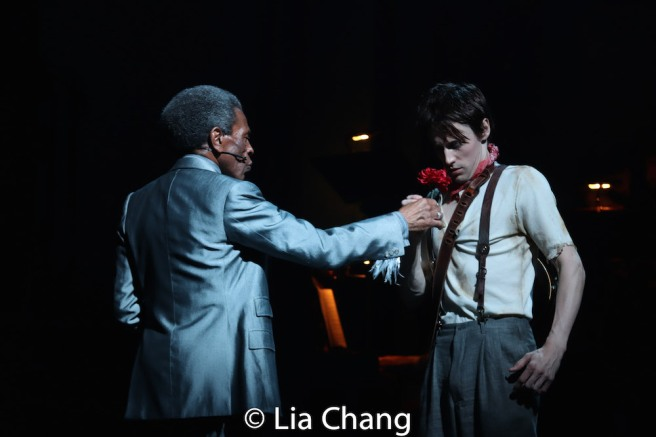 André De Shields and Reeve Carney. Photo by Lia Chang