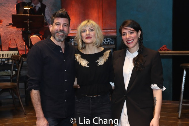 David Neumann, Anaïs Mitchell and Rachel Chavkin. Photo by Lia Chang