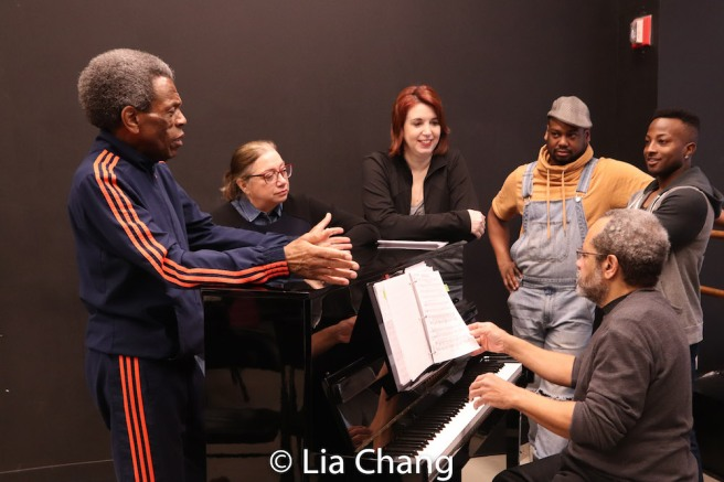 Musical Director Nat Adderley, Jr., Lamont Brown, C.K. Edwards and Wesley Barnes. Photo by Lia Chang