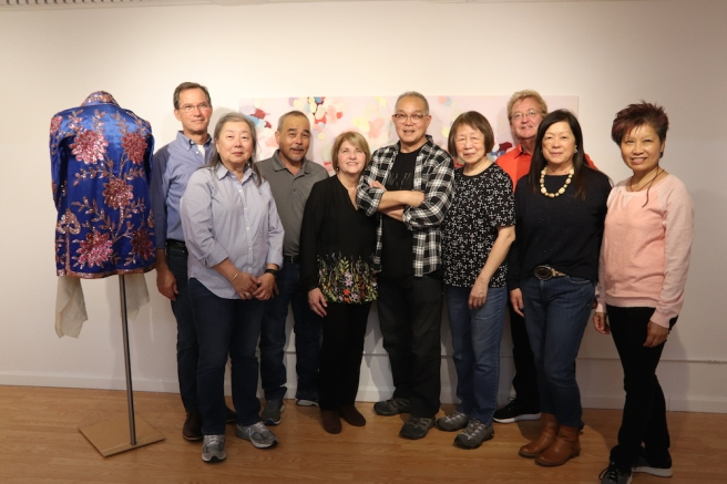 Scott and Ping McLauchlin, Chuck and Debbie Huang, Arlan Huang and Lillian Ling, Bruce and Judy Blackton. Photo by Lia Chang