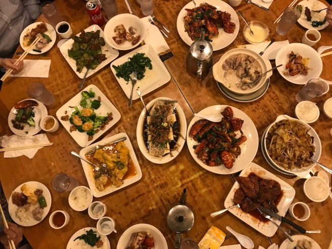 A feast at Cafe Hong Kong. Photo by Lia Chang