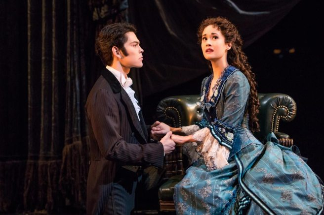 Rodney Ingram and Ali Ewoldt in THE PHANTOM OF THE OPERA on Broadway. Photo by Matthew Murphy
