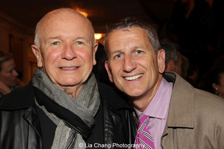 Terrence McNally and Tom Kirdahy. Photo by Lia Chang
