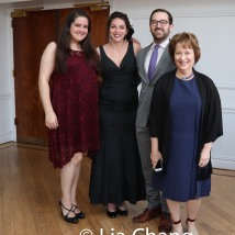 A guest, Elise Marie Selah, Hillel Friedman and Tira Harpaz. Photo by Lia Chang