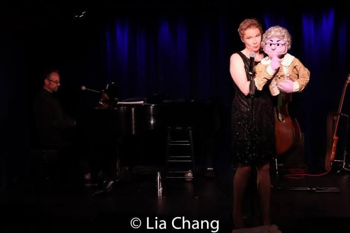 Gary Adler, Jennifer Barnhart and Mrs. T. Roz. Photo by Lia Chang