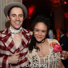 Reeve Carney and Amber Gray. Photo by Lia Chang